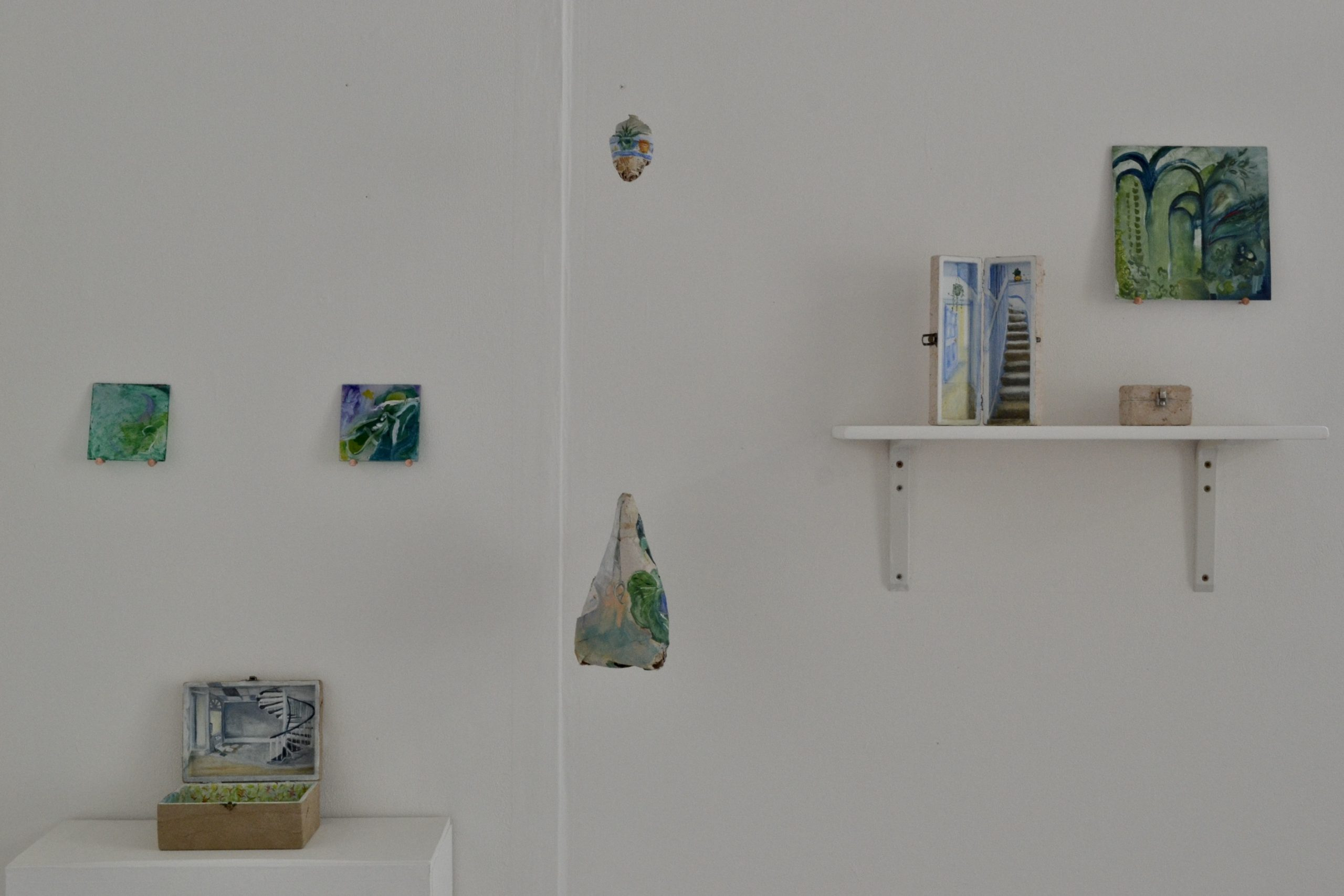 JessBeare Paintings On Glass Paper Nests Boxes And Aluminium Fine Art.jpeg